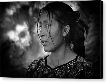 Mayan Beauty Canvas Print by Tom Bell
