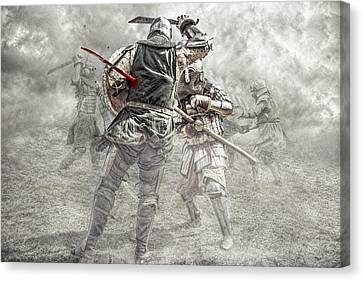 Medieval Battle Canvas Print by Jaroslaw Grudzinski