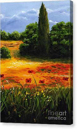 Mediterranean Landscape Canvas Print by Edit Voros