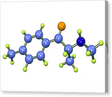 Mephedrone Molecule Canvas Print by Dr. Mark J. Winter
