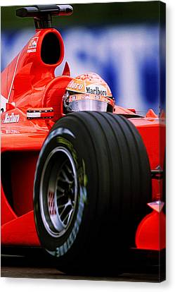 Michael Schumacher Canvas Print by Srdjan Petrovic