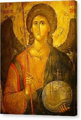 Michael The Archangel Canvas Print by Ellen Henneke
