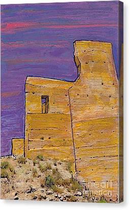 Moorish Fort In Jumilla Canvas Print by Sarah Loft