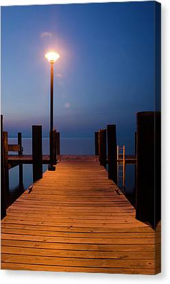 Morning On The Dock Canvas Print by Crystal Wightman