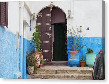 Morocco, Rabat, Sale, Kasbah Des Canvas Print by Emily Wilson
