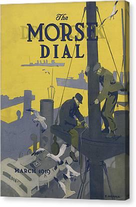 Morse Dry Dock Dial Canvas Print by Edward Hopper