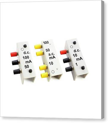 Multipurpose Meter Shunts Canvas Print by Science Photo Library