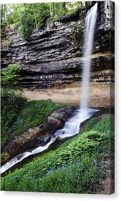 Munising Falls Canvas Print by Adam Romanowicz