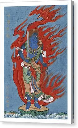 Mythological Buddhist Or Hindu Figure Circa 1878 Canvas Print by Aged Pixel