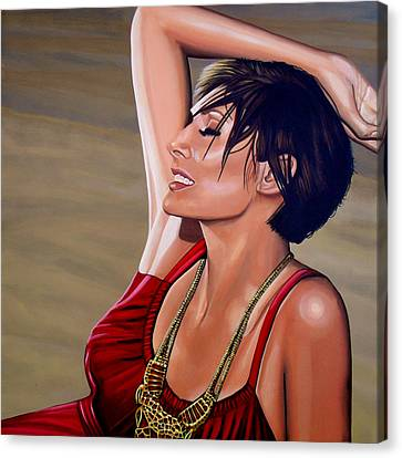 Natalie Imbruglia Painting Canvas Print by Paul Meijering