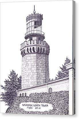 Navasink North Tower Canvas Print by Frederic Kohli