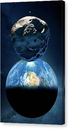 Near-earth Asteroid Canvas Print by Detlev Van Ravenswaay