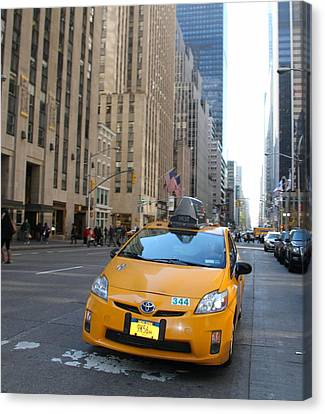 New York City Taxi Canvas Print by Dan Sproul