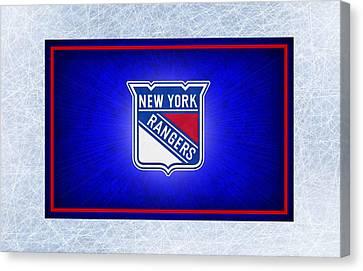 New York Rangers Canvas Print by Joe Hamilton