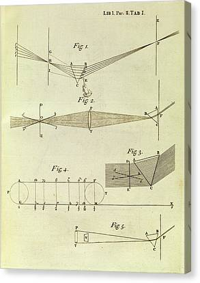 Newton's Optics Canvas Print by Middle Temple Library