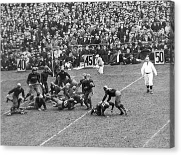 Notre Dame-army Football Game Canvas Print by Underwood Archives