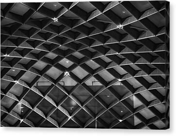 Nurb Skylight Structure Canvas Print by Lynn Palmer
