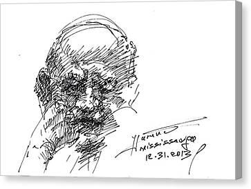 Old Man Canvas Print by Ylli Haruni