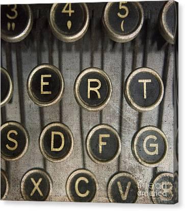 Old Typewrater Canvas Print by Bernard Jaubert