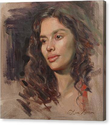 Olivia Canvas Print by Anna Rose Bain