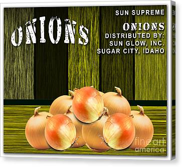 Onion Farm Canvas Print by Marvin Blaine