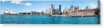 Opera House With City Skyline, Sydney Canvas Print by Panoramic Images
