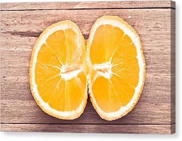 Orange Canvas Print by Tom Gowanlock