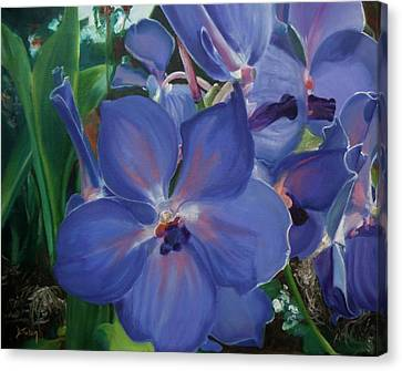 Orchids Canvas Print by Donna Tuten