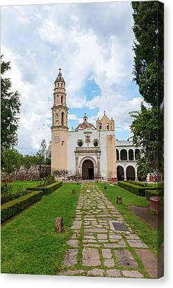 Oxtotipac Church And Monastery Mexico Canvas Print by Marek Poplawski