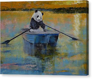 Panda Reflections Canvas Print by Michael Creese