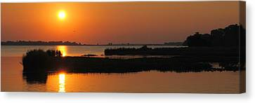 Panoramic Sunset Canvas Print by Frozen in Time Fine Art Photography