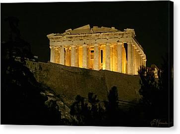 Parthenon Canvas Print by Ellen Henneke