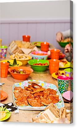 Party Food Canvas Print by Tom Gowanlock
