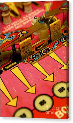 Pinball Machine Canvas Print by Bernard Jaubert