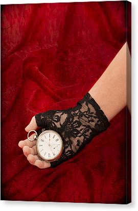 Pocket Watch Canvas Print by Amanda Elwell