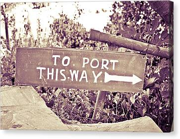 Port Sign Canvas Print by Tom Gowanlock