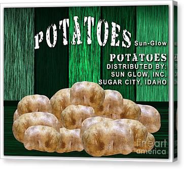 Potato Farm Canvas Print by Marvin Blaine