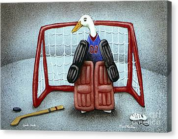 puck duck... by Will Bullas Canvas Print by Will Bullas