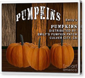 Pumpkin Patch Canvas Print by Marvin Blaine