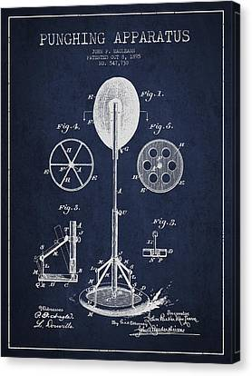 Punching Apparatus Patent Drawing From1895 Canvas Print by Aged Pixel