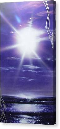 Ocean - ' Purple Aura ' Canvas Print by Christian Chapman Art