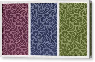 Purple Blue Green Canvas Print by Aged Pixel