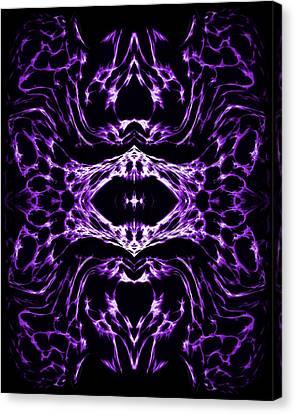 Purple Series 3 Canvas Print by J D Owen