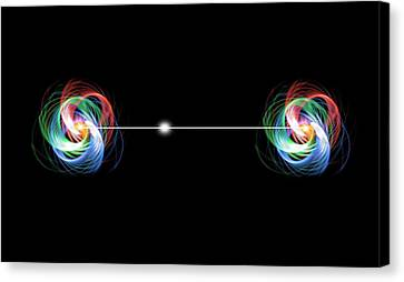Quantum Entanglement Canvas Print by Victor De Schwanberg
