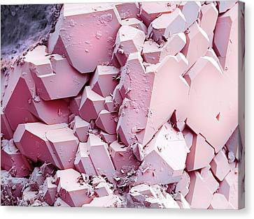 Quartz Crystals Canvas Print by Science Photo Library