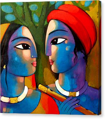 Radha Krishna Canvas Print by Sekhar Roy
