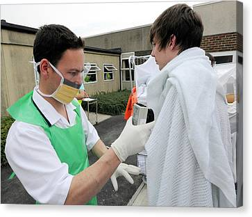 Radiation Emergency Response Monitoring Canvas Print by Public Health England