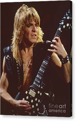 Randy Rhoads At The Cow Palace In San Francisco - 1st Concert Of The Diary Tour Canvas Print by Daniel Larsen