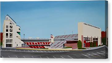 Razorback Stadium Canvas Print by Clinton Cheatham