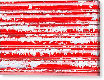 Red Metal Canvas Print by Tom Gowanlock